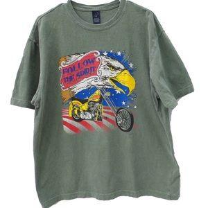 Vintage Follow The Spirit Eagle American T-Shirt